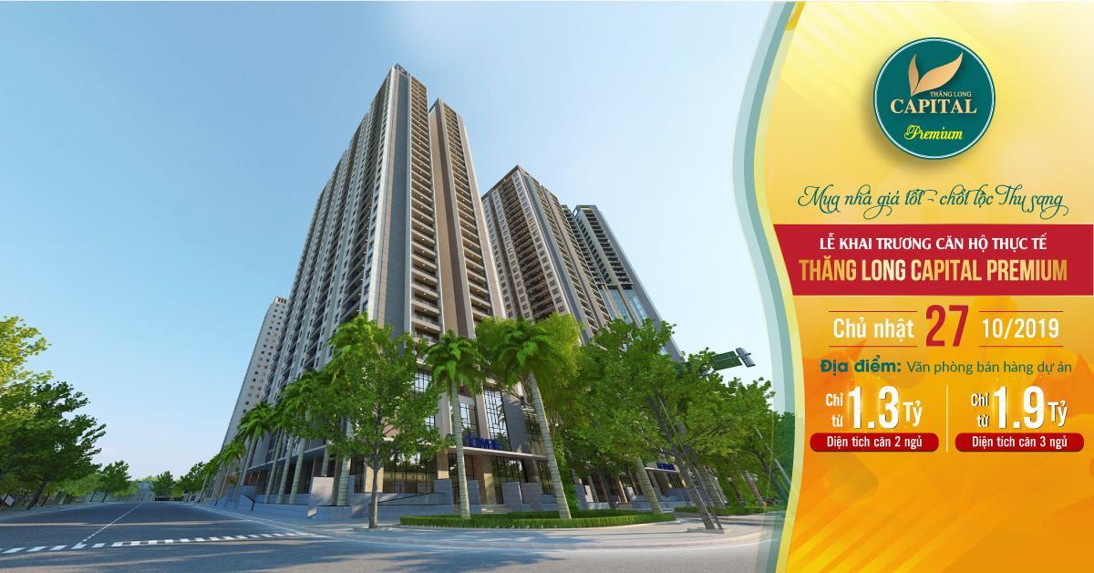 Ngập tràn quà tặng tại Lễ Khai trương căn hộ thực tế dự án Thăng Long Capital Premium