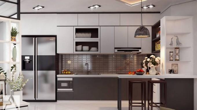 Tổng hợp những mẫu thiết kế phòng bếp phù hợp với căn hộ nhỏ