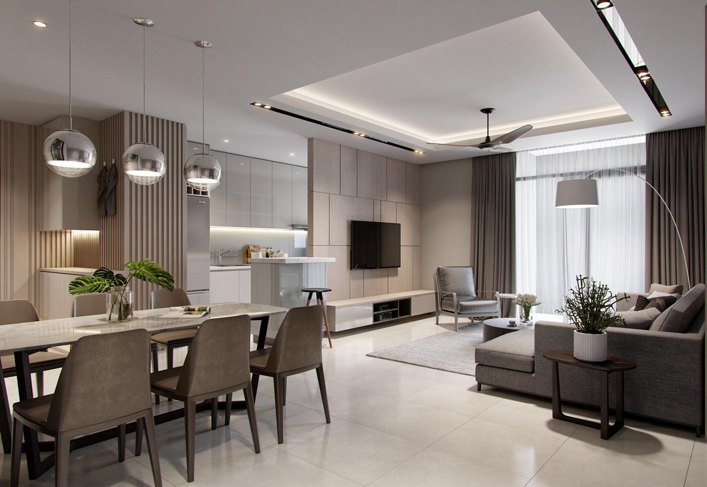 Thiết kế căn hộ 3 phòng ngủ đẹp, tối ưu công năng