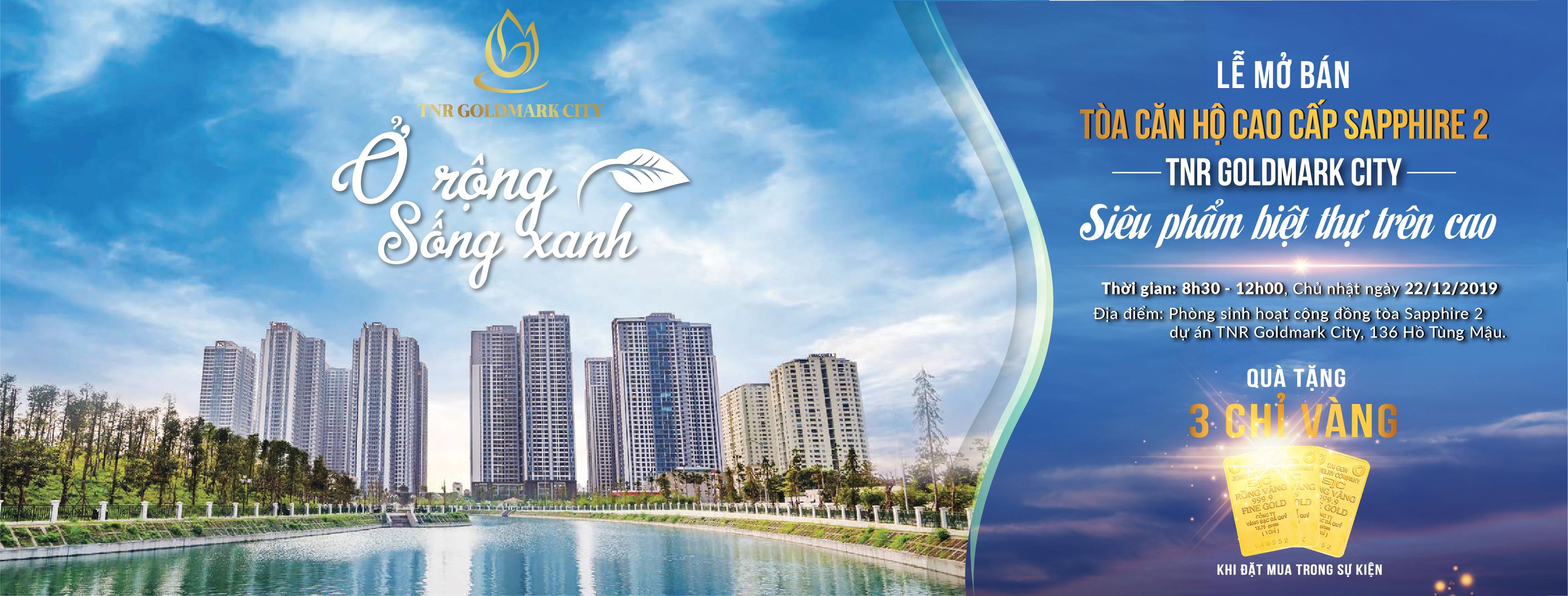 Lễ mở bán tòa căn hộ Saphirre 2-TNR Goldmark City: Tặng 03 chỉ vàng cho khách hàng đặt cọc mua căn hộ