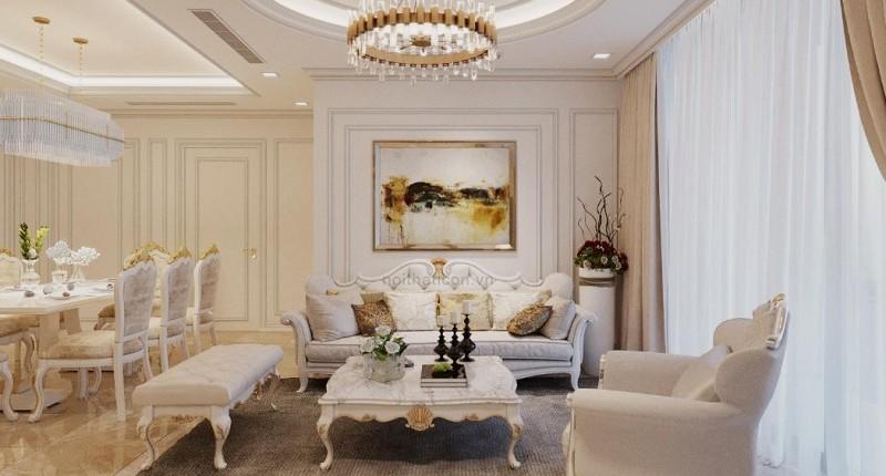 Thiết kế nội thất tân cổ điển đẹp tinh tế, sang trọng