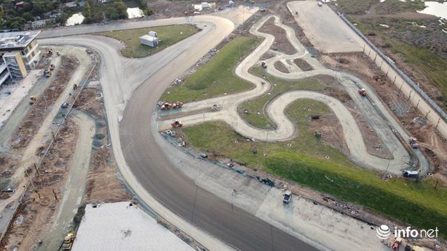 Toàn cảnh đường đua F1 tại Hà Nội từ trên cao, hoàn thiện 80%