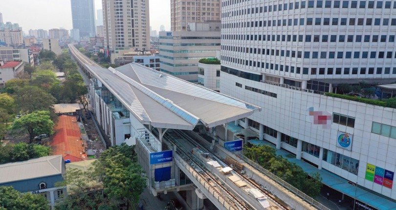 Metro Nhổn – ga Hà Nội thi công xong đoạn trên cao
