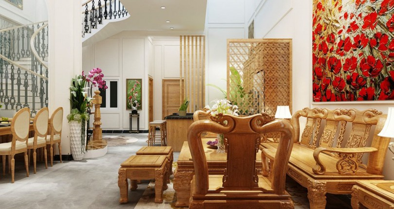"""Mẫu thiết kế nội thất tân cổ điển sang trọng ai nhìn cũng phải """"trầm trồ"""""""
