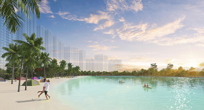 Cư dân Imperia Smart City hưởng lợi từ công viên hồ điều hòa