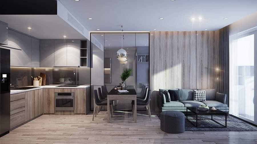 Thiết kế nội thất sang trọng cho căn hộ rộng 60m2