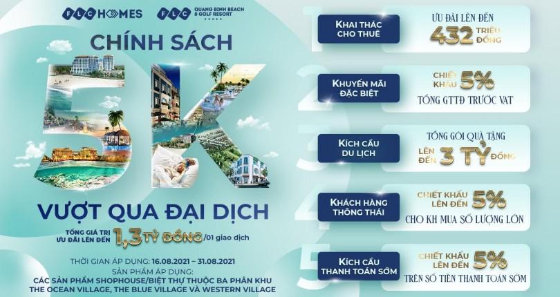 FLC Quảng Bình tung ưu đãi 5K, tối đa lợi nhuận cho nhà đầu tư